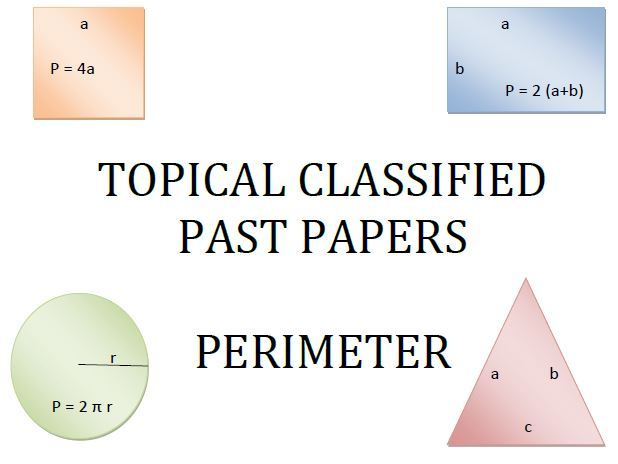 Cambridge Lower Secondary Checkpoint Topical Classified Past Papers-Mathematics-GEOMETRY-Perimeter