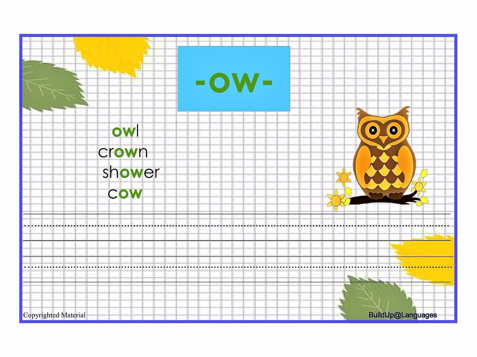 Practice phonics: -ai,-ar,-ay,-ee,-er,-ir,-oa,-oo,-ou,-ow,-qu