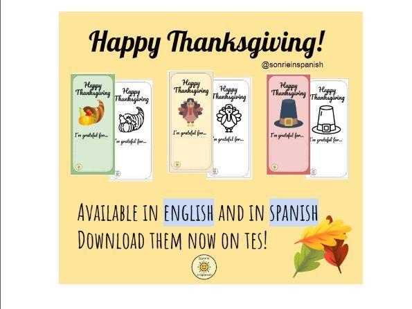 Thanksgiving appreciation bookmarks