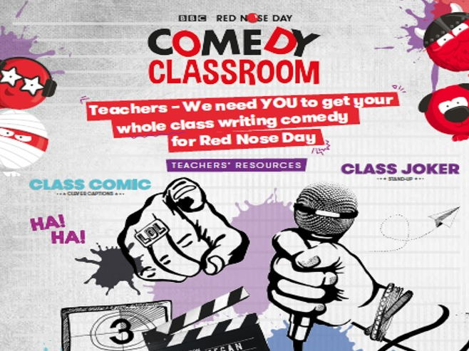 BBC Red Nose Day Comedy Classroom secondary writing resource