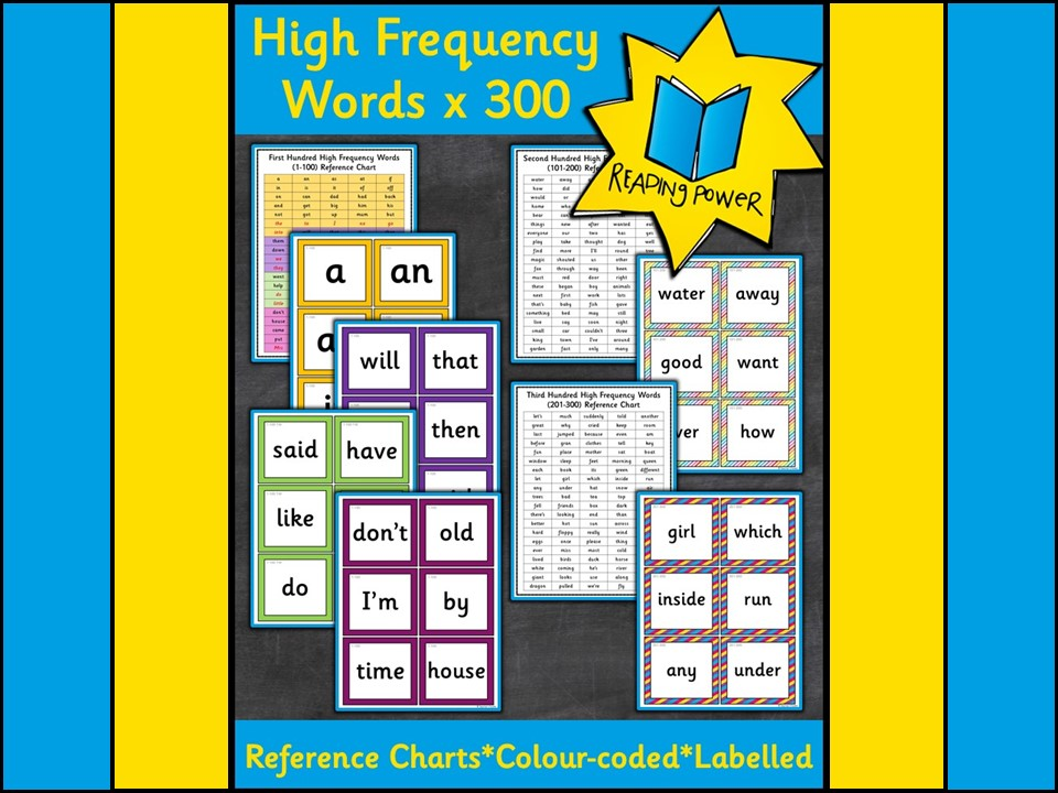 Phonics: Phonics High Frequency Words Flashcards