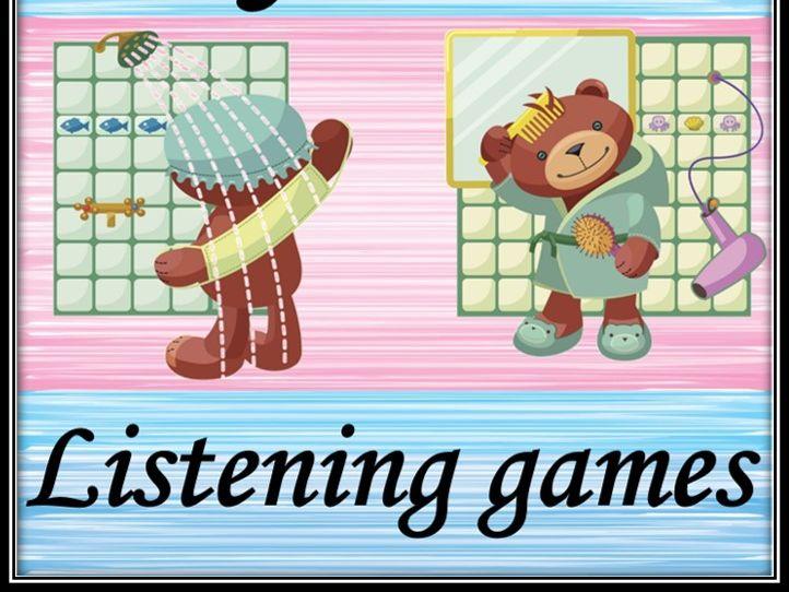 Daily routine in French. Listening games. La journée. Les jeux d'audition.