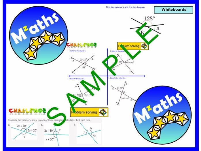 Angles - Vertically Opposite/Algebra/Problem Solving/Revision