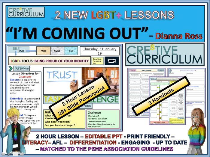 Coming Out - PSHE 2 Lessons - RSE/C8/LS/03