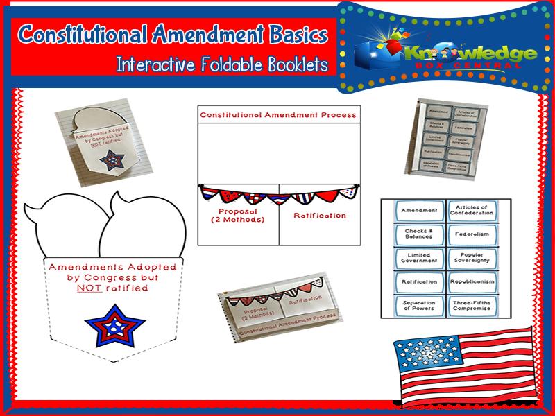 Constitutional Amendments Basics Interactive Foldable Booklets