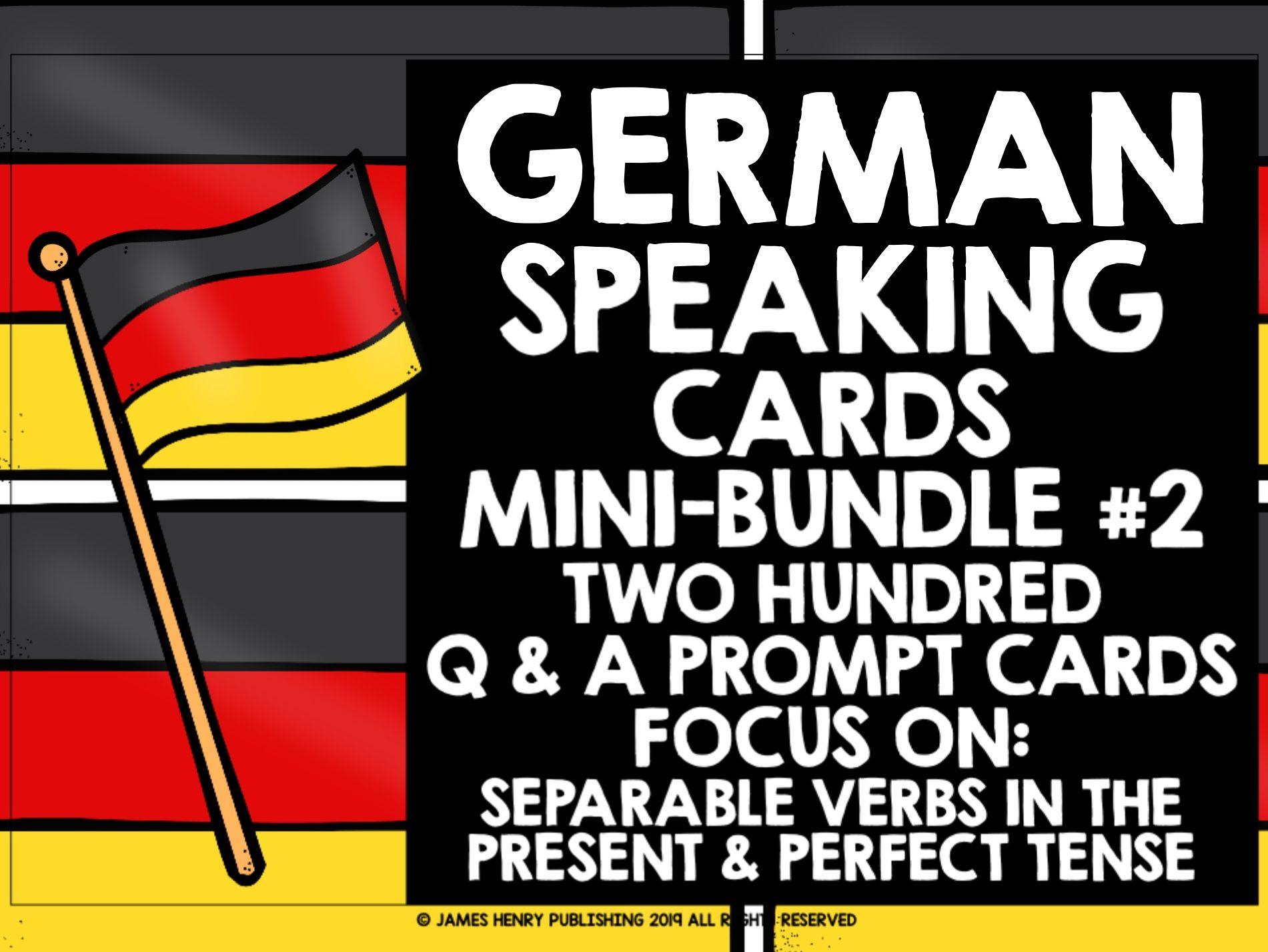 GERMAN SPEAKING PRACTICE MINI-BUNDLE #2