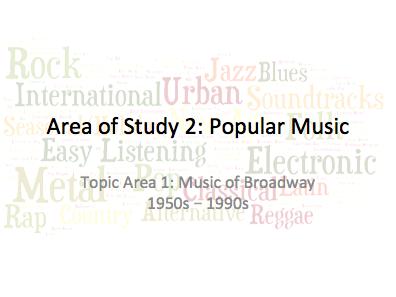 AQA GCSE Music (teaching from 2016) AoS 2 Popular Music Listening