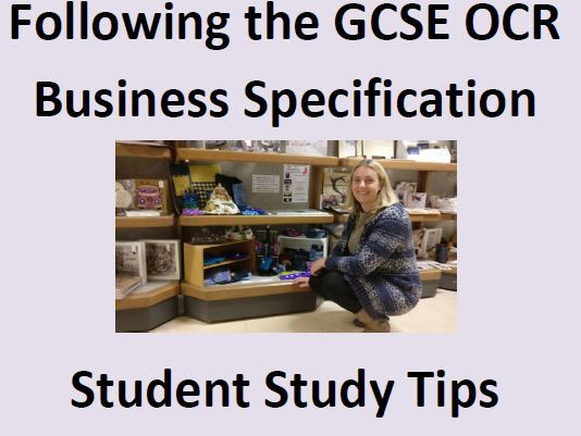 GCSE BUSINESS OCR STUDY GUIDE AND CHECKLIST *FREE