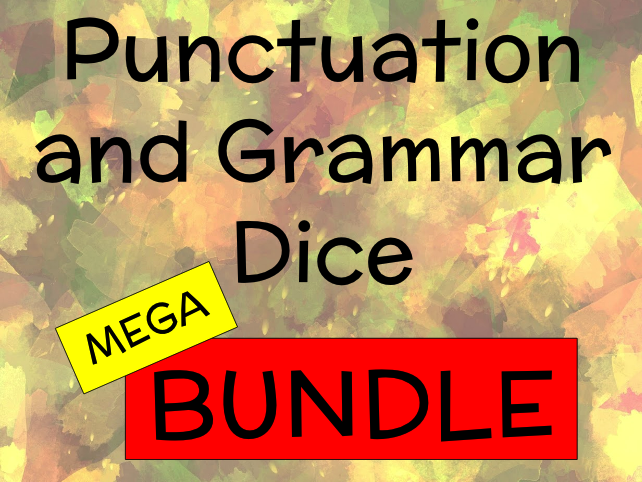 Punctuation and Grammar Dice for Key Stages 1 and 2 Mega BUNDLE