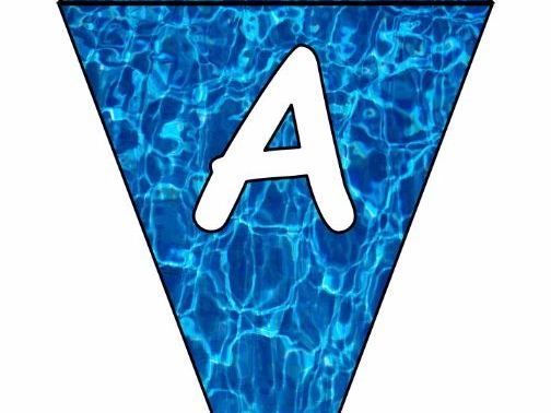 Display Letters : Alphabet, Numbers, Punctuation: Swimming Pool Bunting