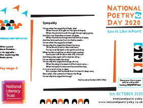 National Poetry Day 2020 NLT KS3 Education Resource