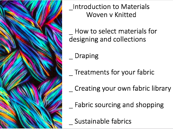 Introduction to materials for fashion
