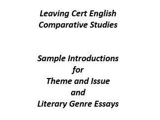 essays for leaving cert english 10 last minute tips for leaving cert english paper 2 by miss oneill  before you ever start your essay and with the key words in mind, pick out the points you are .
