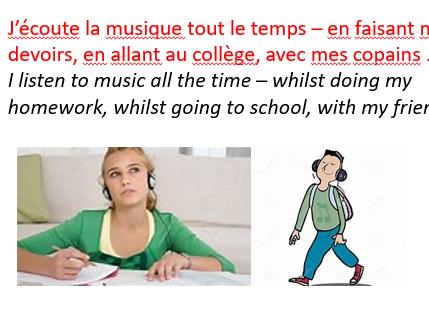 La musique - music in French.