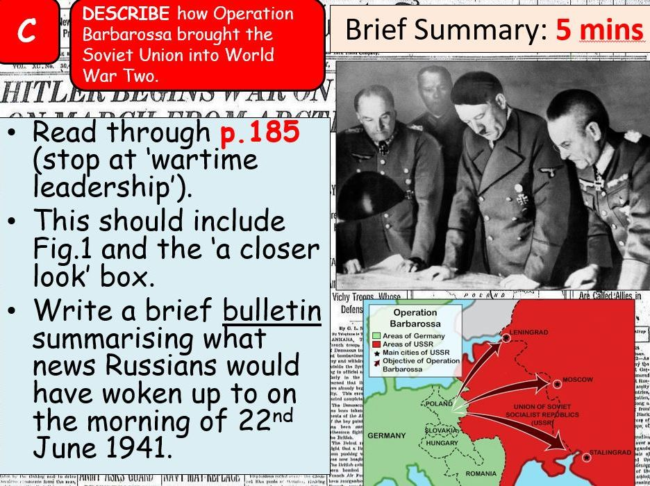 AQA A-Level Tsarist & Communist Russia Lesson 82 (Stalin's Wartime Leadership)