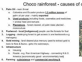 AQA Deforestation Choco