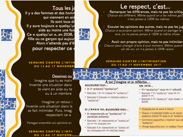 French- Anti-Bullying Week- Semaine Contre l'intimidation