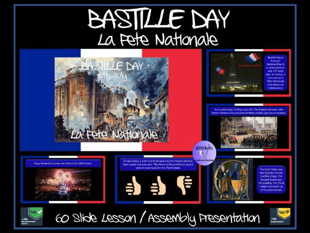 Bastille Day  PowerPoint Lesson / Assembly -14th July (La Fête Nationale) and the French Revolution
