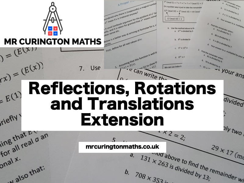 Reflections, Rotations and Translations Extension
