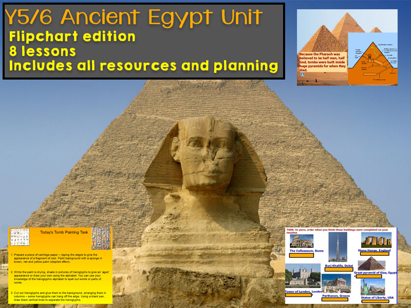 Y5 / Y6 Ancient Egypt Unit for 8 lessons with planning and resources