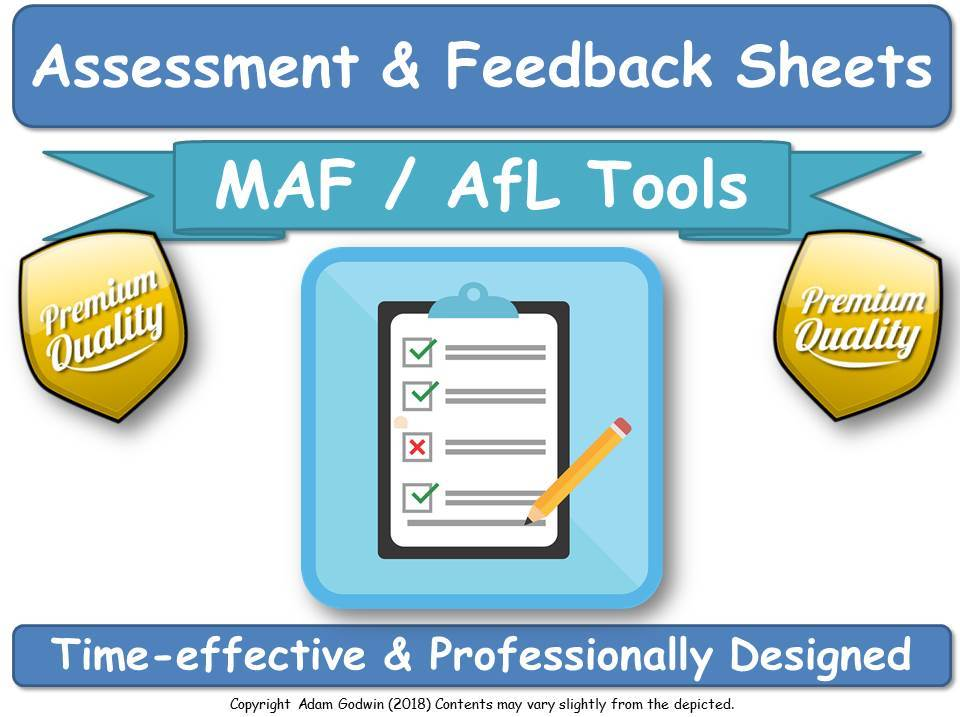 Beautiful Worksheets for: Assessment, Feedback, Corrections, Reflective Practice: