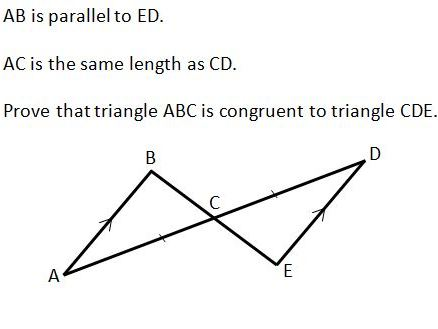 Congruent Triangles GCSE worksheet