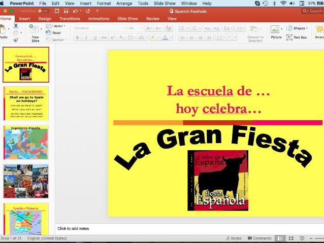 Spanish Festivals PowerPoint - whole school