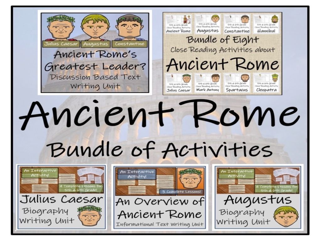 UKS2 History - Ancient Rome Mega Bundle of Activities