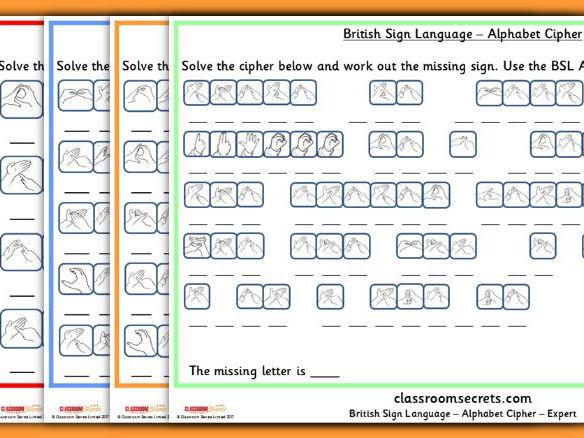 British Sign Language Code Breaking
