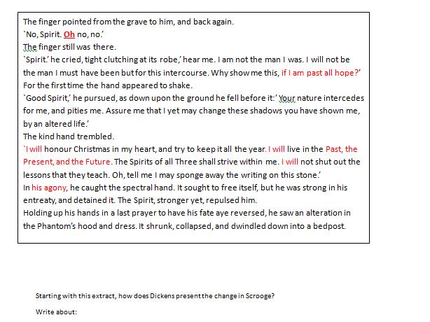 A CHRISTMAS CAROL MOCK EXAM PAPER AQA ENGLISH LITERATURE NEW 1-9 SPEC