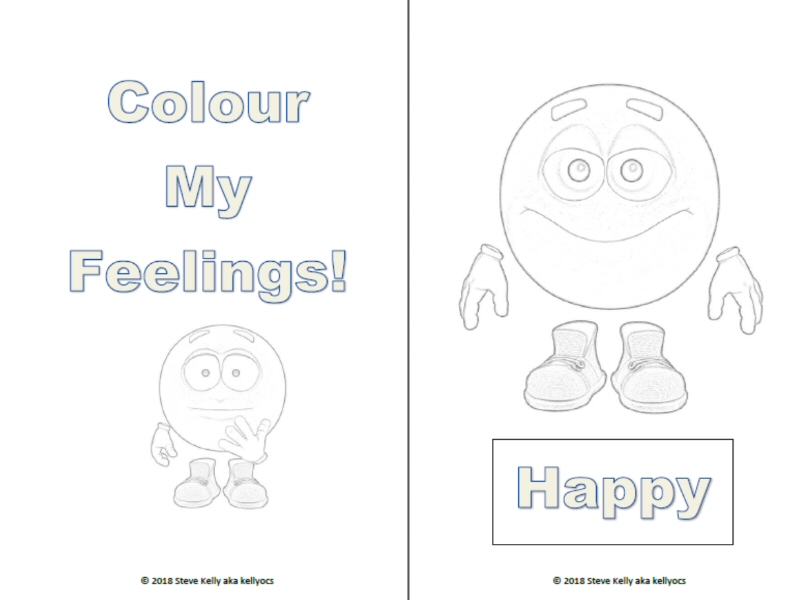 Colour My Feelings - Emotions colouring book for children with autism.