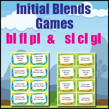 phonics games initial blends bl pl fl sl cl gl i have who has by goteachthis. Black Bedroom Furniture Sets. Home Design Ideas