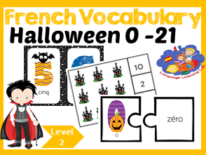 French numbers - Learn 0 -21 Numbers in French - Halloween!