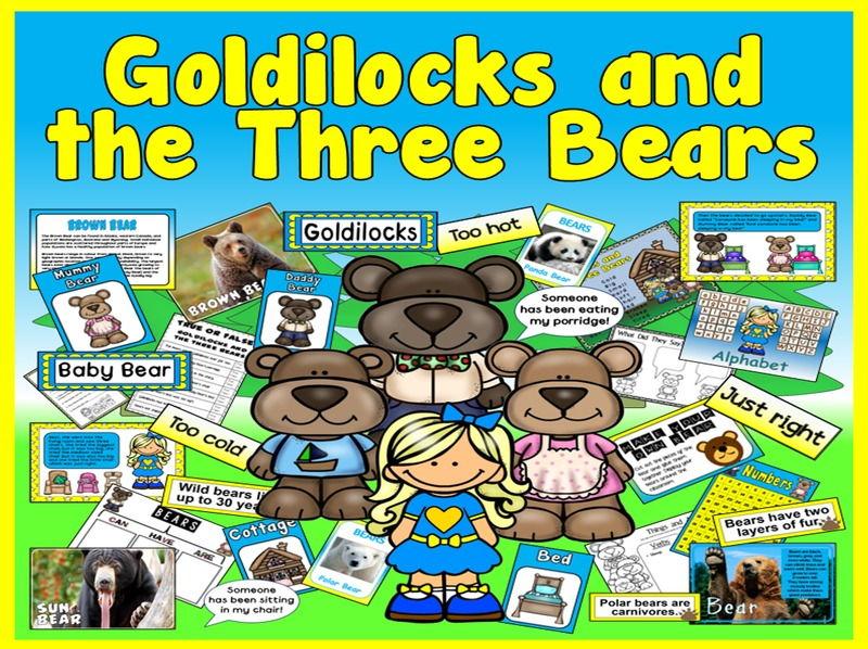 GOLDILOCKS AND THREE BEARS STORY TEACHING RESOURCES EYFS KS 1-2 LITERACY