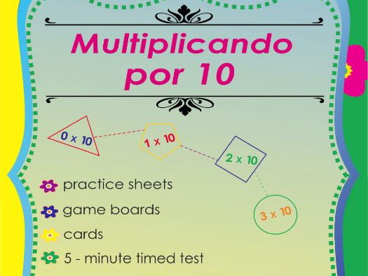 Multiplicando Por 10 - Spanish Multiplication Math Games and Lesson Plans