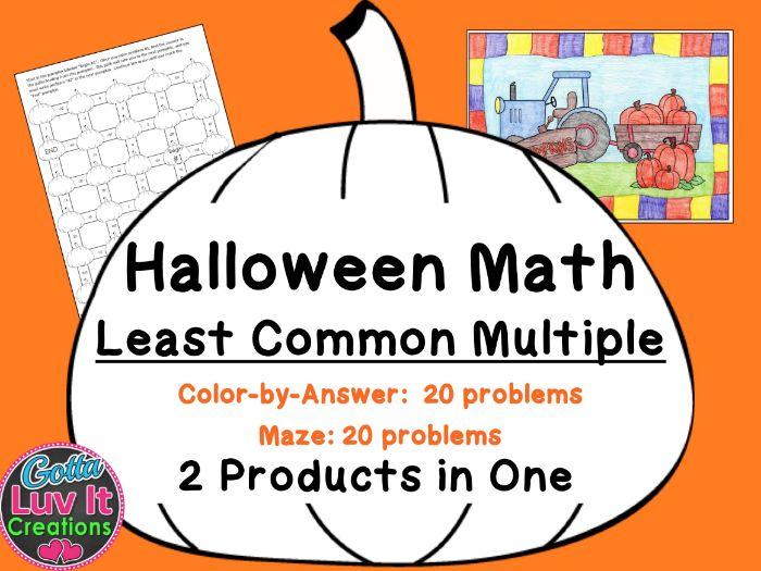 Halloween Math - Least Common Multiple LCM