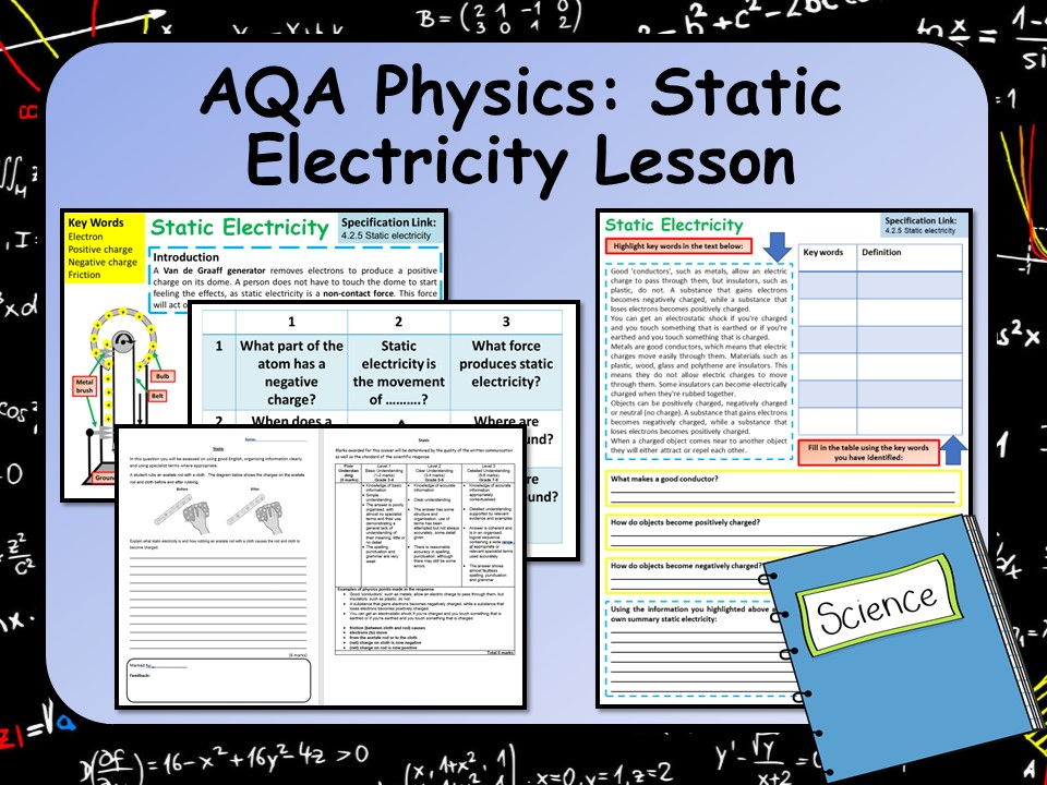 AQA Physics (Science) Static Electricity Lesson