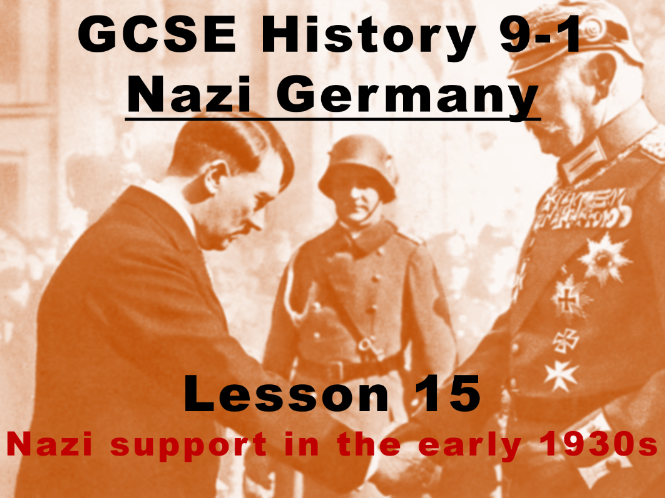 Nazi Germany - GCSE History 9-1 - Nazi support in the early 1930s