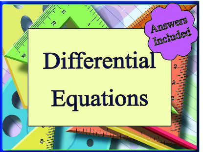 Differential Equations for 'A' Level - over 30 questions with answers
