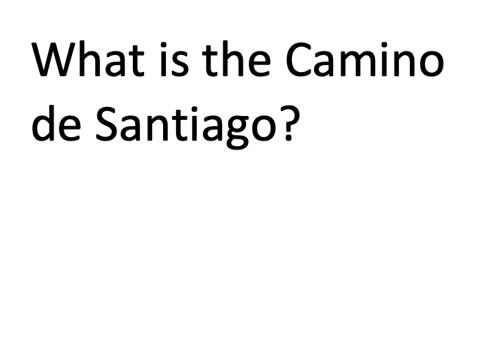 What is the Camino de Santiago Guided Reading / Reading Comprehension