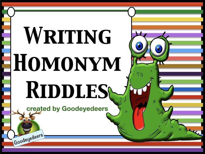 Writing Homonym Riddles