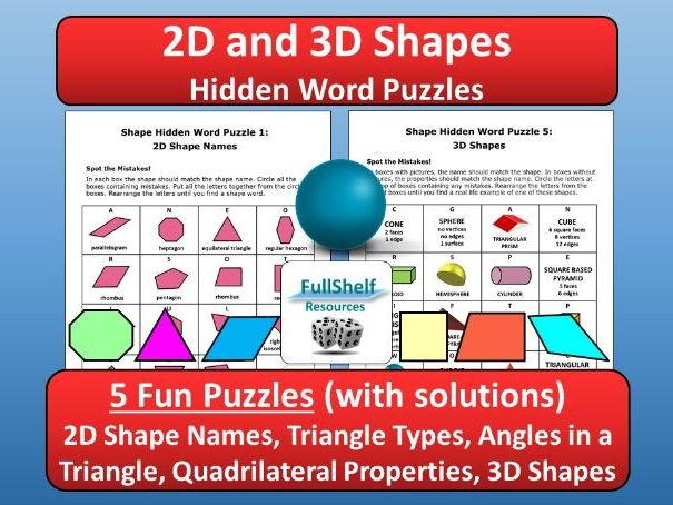 2D / 3D Shapes