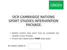 OCR Sports Studies R051- Contemporary Issues in Sport. INTERVENTION PACKS/HOMEWORK BOOKLETS.