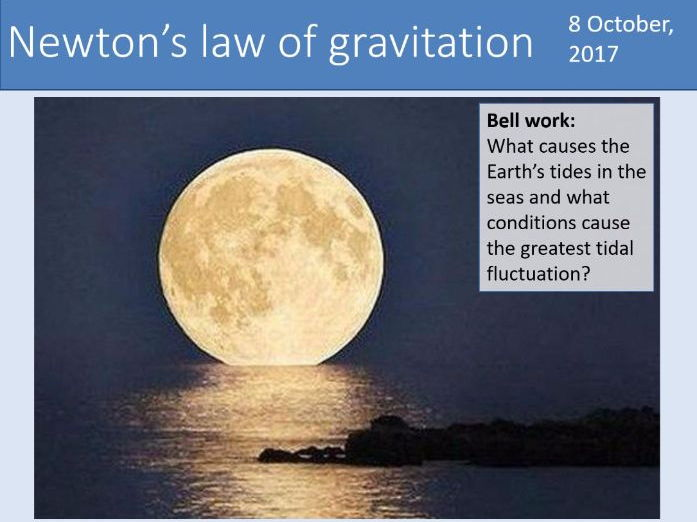 A-level Physics Unit 7.2 Gravitational fields - 7.2.1 Newton's law of gravitation (New AQA spec)