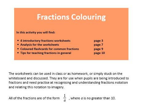 Fractions Colouring
