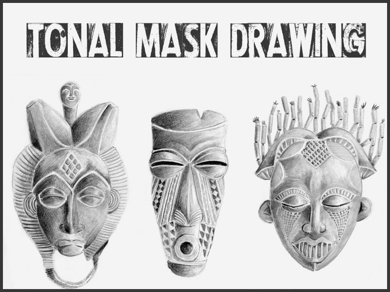 Cultural Mask Drawing Activity