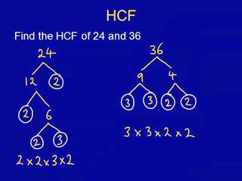 Tarsia - HCF/LCM (KS2 upwards)