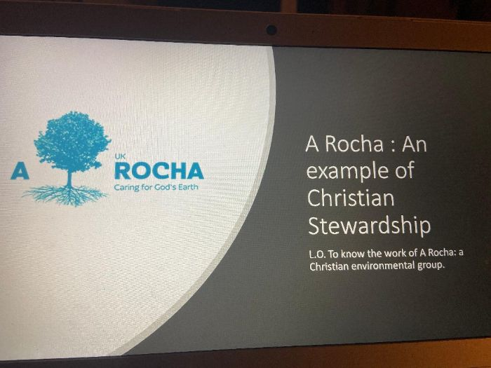 Cover lesson on A Rocha: A Christian environmental organisation
