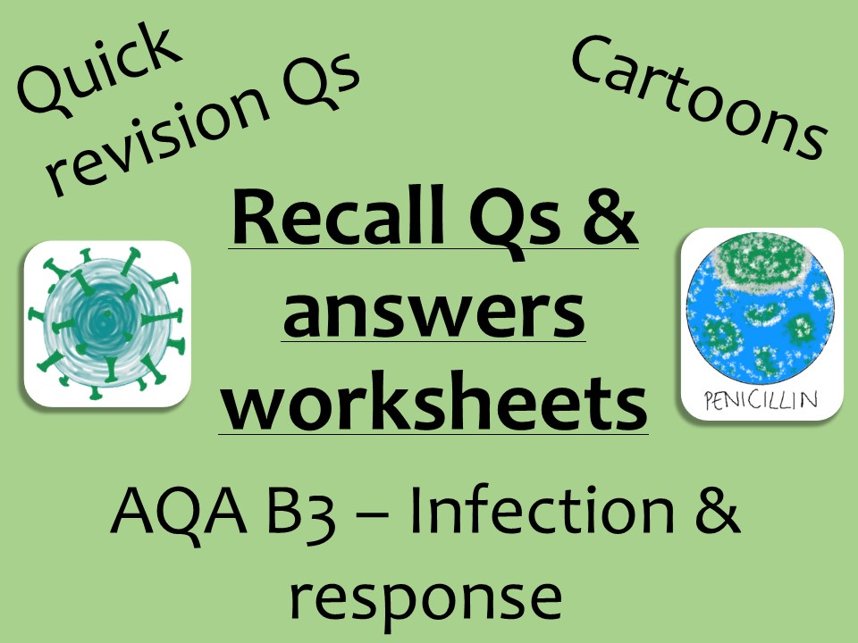 AQA Biology GCSE B3 - Infection recall Qs