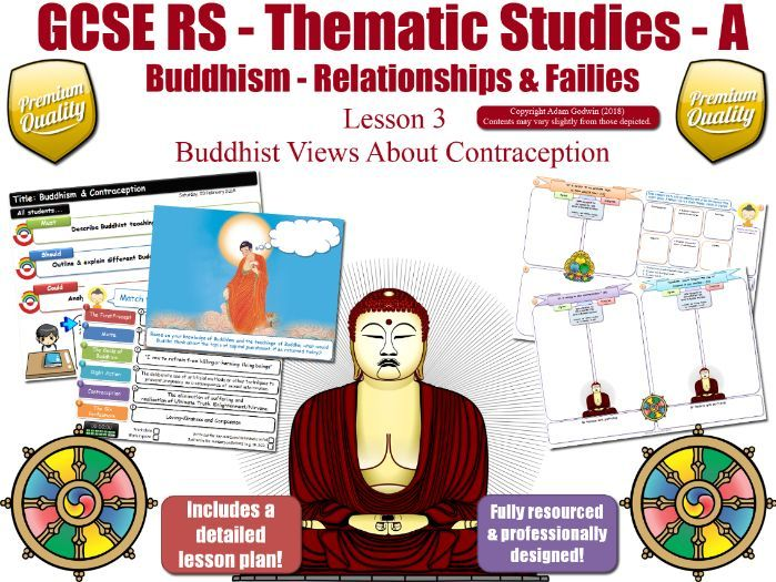 Contraception - Buddhist Views (GCSE RS - Buddhism - Relationships & Families)  Theme A - L3/7